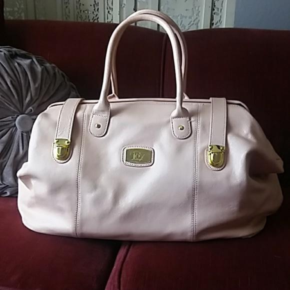 gutes Angebot Werksverkauf besser Pink Leather designer duffle weekender bag